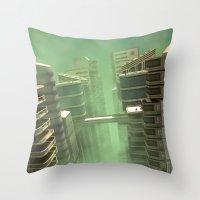 3D Illustration Futurist… Throw Pillow