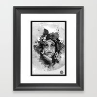 Abstract Portrait Blk/Wh… Framed Art Print