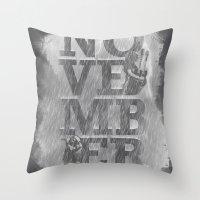 November Rain Throw Pillow