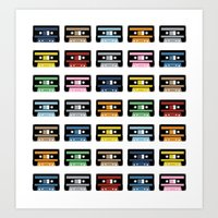 Rainbow Black Tapes Art Print