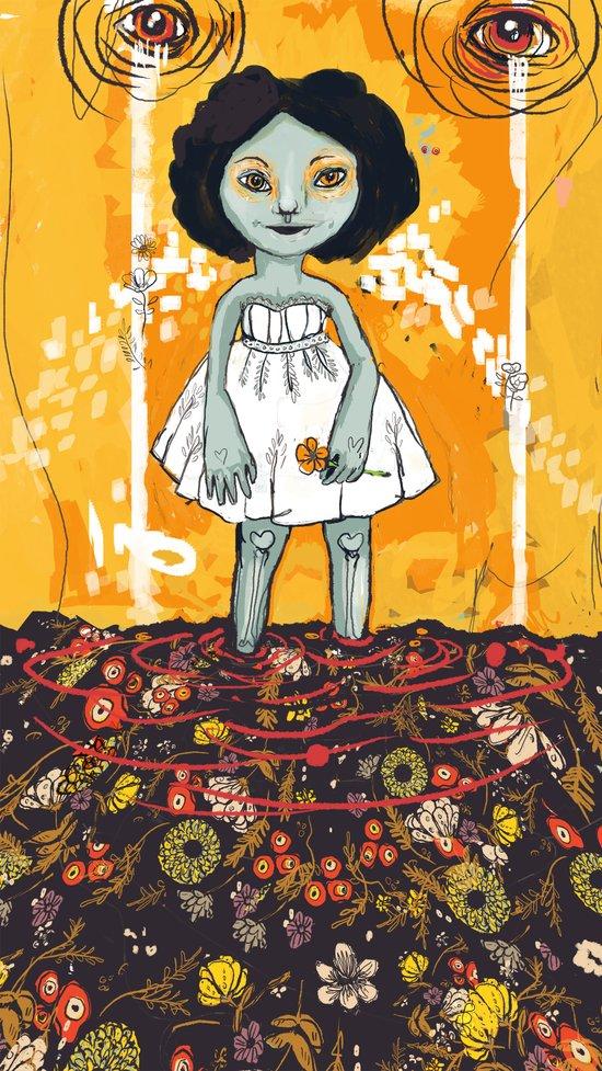 Yellow Flower Room Art Print