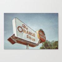 Orange Shop Canvas Print