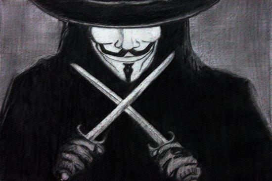 V for Vendetta  (by Esin )5 Art Print