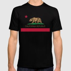 California Republic state flag - Authentic Version SMALL Mens Fitted Tee Black