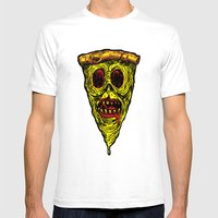 Pizza Face - Zombie Mens Fitted Tee White SMALL