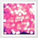 Red Glitter Bokeh Girly Hip Wonderland Typography Art Print