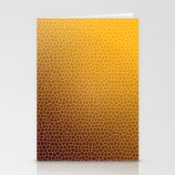 Orange Abstract Pattern Stationery Cards
