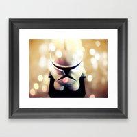 Little Trooper Framed Art Print