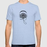 Vinyl Afro Mens Fitted Tee Athletic Blue SMALL
