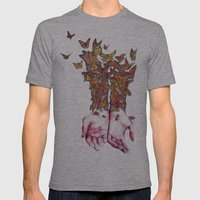 The Butterfly Project Mens Fitted Tee Athletic Grey SMALL