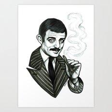 Gomez Addams Art Print