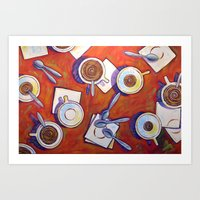 The Get Together ... Cof… Art Print