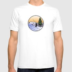 fly fishing Mens Fitted Tee SMALL White