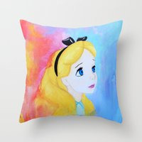In Wonderland Throw Pillow