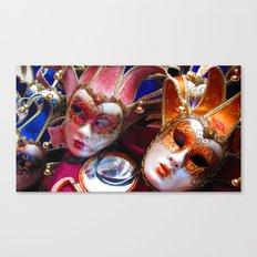 Colourful Masks Canvas Print