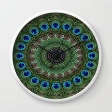 Peacock Abstract Wall Clock