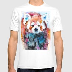 Red panda SMALL White Mens Fitted Tee