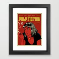 P. F. Framed Art Print