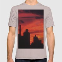 City Sunset Mens Fitted Tee Cinder SMALL