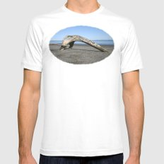 Drift Arch White Mens Fitted Tee SMALL