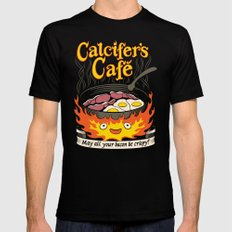 Calcifer's Cafe Mens Fitted Tee Black SMALL