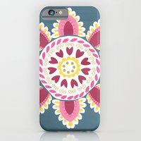 Suzani inspired floral blue 2 iPhone 6 Slim Case