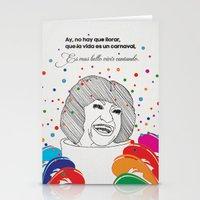 La Vida Es Un Carnaval Stationery Cards