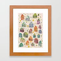 Cactus Town Framed Art Print