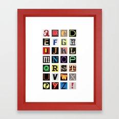 Found Alphabet Framed Art Print