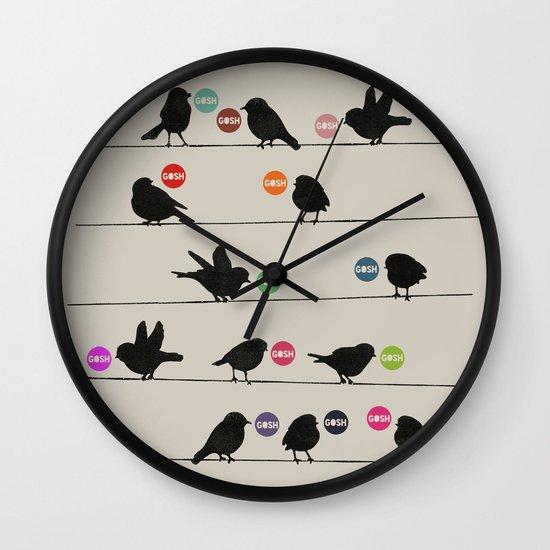 Birdsong Gosh by Rachel Burbee & Garima Dhawan Wall Clock
