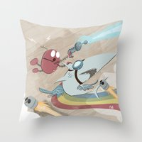 Return To The Super Fire… Throw Pillow