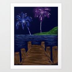Just Watch the Fireworks Art Print