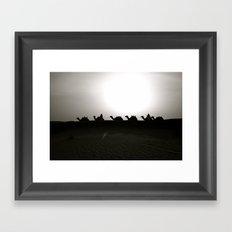 camels Framed Art Print