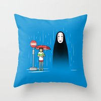 My Lonely Neighbor Throw Pillow