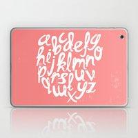 CORAL ALPHABET Laptop & iPad Skin