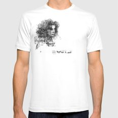 involuntary dilation of the iris SMALL White Mens Fitted Tee