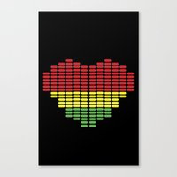 Digital Heart meter Canvas Print