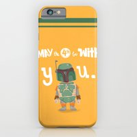iPhone & iPod Case featuring Boba Fett holiday  by christopher-james robert warrington