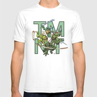 TMNT Mens Fitted Tee White SMALL