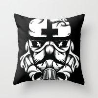 Satanic Trooper Throw Pillow