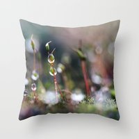 Macro Moss Throw Pillow