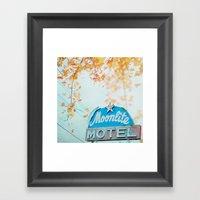 Meet me at the Moonlite Framed Art Print