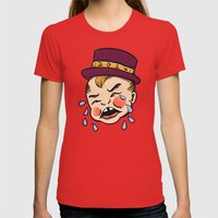 Baby New Year 14 Womens Fitted Tee Red SMALL