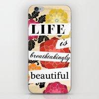 Life Is Breathtakingly B… iPhone & iPod Skin