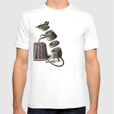 Deconstructed mouse White Mens Fitted Tee SMALL