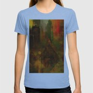 Pyramidal City Womens Fitted Tee Athletic Blue SMALL