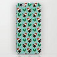 Siamese Cat Cute Christm… iPhone & iPod Skin