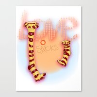 Love Socks Canvas Print