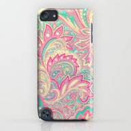Pink Turquoise Girly Chi… iPod touch Slim Case