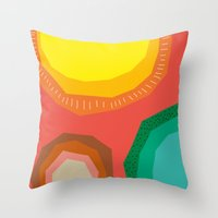 Polka Dots And Moonbeams Throw Pillow